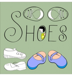 shoes background vector image vector image