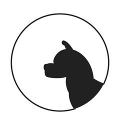 Silhouette of a dog head akita vector image