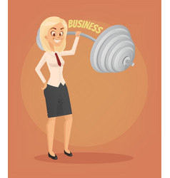 successful businesswoman office worker character vector image vector image
