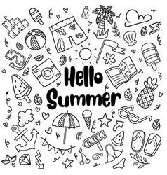 013 hand drawn summer beach doodles isolated vector