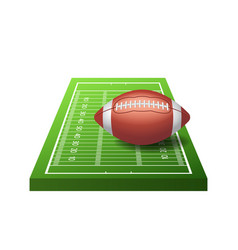 3d american football field icon with green grass vector
