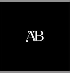 A b letter logo creative design on black color vector