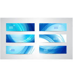 Abstract flow wavy banners set water vector