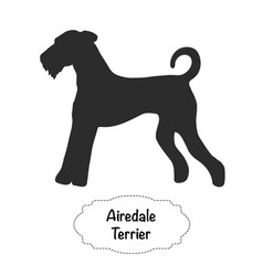Airedale terrier icon vector