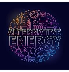 Alternative energy colorful vector