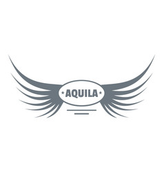 aquila wing logo simple gray style vector image