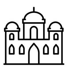 asian mosque icon outline style vector image