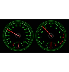 auto dashboard vector image