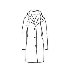 Autumn coat hand drawn raincoat sketch design vector