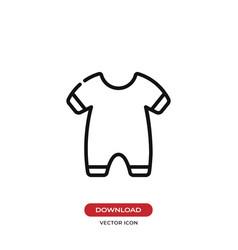 Baby pajama icon vector