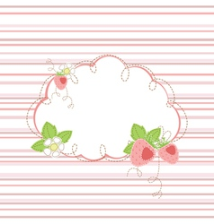 Baby shower with strawberry vector