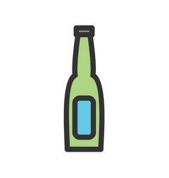 Beer bottle i vector