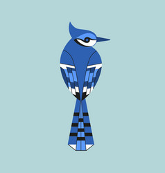 Blue jay bird icon vector