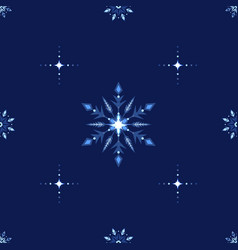 Blue shine holidays snowflakes and stars ornate vector