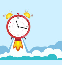 Business concept quickly approaching deadline vector