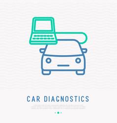 car diagnostics thin line icon vector image