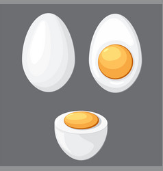 cartoon egg isolated vector image