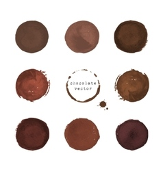 Chocolate round stains and blots vector
