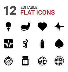 club icons vector image