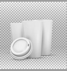 Coffee cup mockup set vector