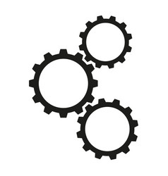 cogwheels work icons vector image