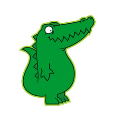 Cute alligator croc cartoon toy character mascot vector