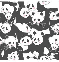 Cute panda bear seamless pattern textile vector