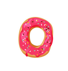 delicious yummy donut with colorful sprinkles vector image