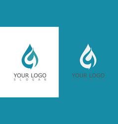 Drop water letter g logo vector