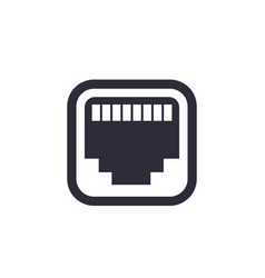 Ethernet network port icon vector