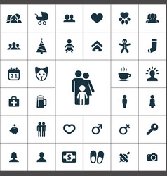 Family icons universal set for web and ui vector