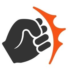 Fist Strike Flat Icon vector