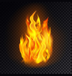 flame icon or fire emoji lit emoticon danger vector image