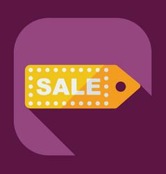 Flat modern design with shadow sticker prices sale vector