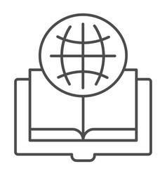Foreign language book thin line icon opened book vector