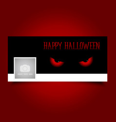 halloween evil eyes timeline cover vector image