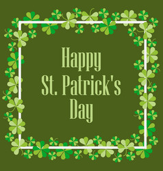 happy st patricks festive background vector image vector image