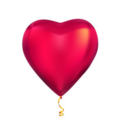 heart shape colour glossy helium balloons isolated vector image