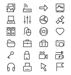 Internet line icons 2 vector