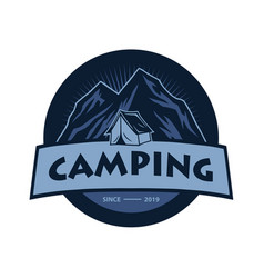 logo mountain adventure camping climbing vector image
