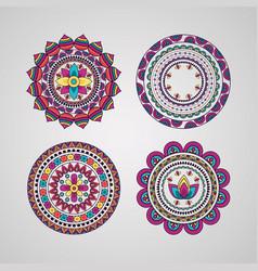 mandala floral decoration ethnic design vector image