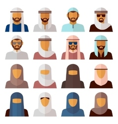 Middle Eastern People Avatars vector