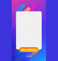 New arrival product social media story vertical vector