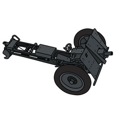 Old dark gray cannon vector