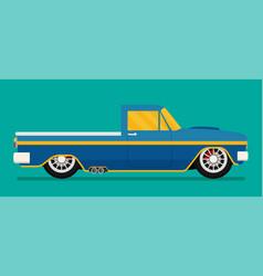 Old school race car vector