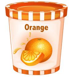 Orange yogurt in cup vector