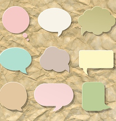 Pastel Speech Bubble Set vector image