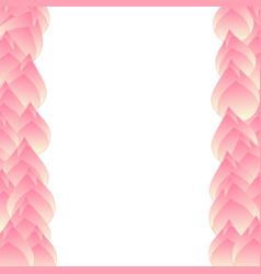 Pink bud indian lotus border vector