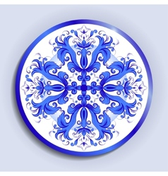 plate with pattern vector image