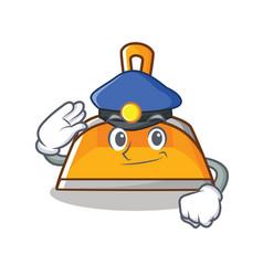 police dustpan character cartoon style vector image